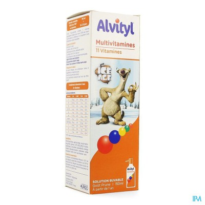 ALVITYL MULTIVITAMINES ICE AGE SIROOP 150ML