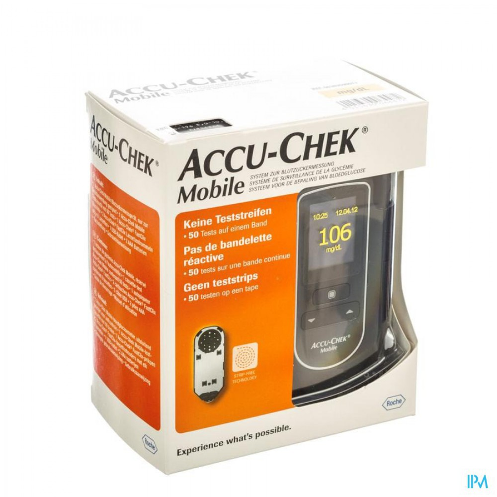 accu chek mobile test cassette 50 tests 7141254171 apotheek thiels. Black Bedroom Furniture Sets. Home Design Ideas