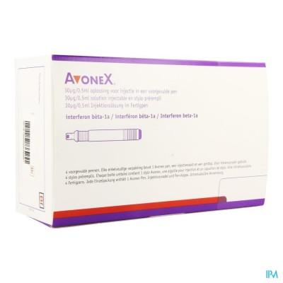 AVONEX 30MCG/0,5ML OPL INJ VOORGEVULDE PEN 4