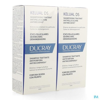 DUCRAY KELUAL DS SH A/ROOS DUO 2X100ML NF