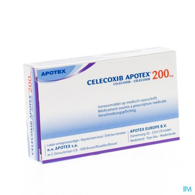 CELECOXIB APOTEX 200MG CAPS HARD DUR 10
