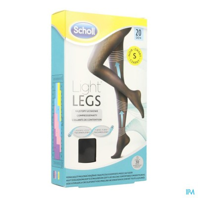 SCHOLL LIGHT LEGS 20D SMALL BLACK