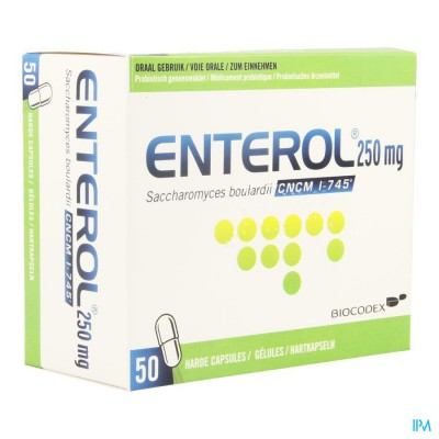 Enterol 250mg Caps Harde Dur 50 X 250mg