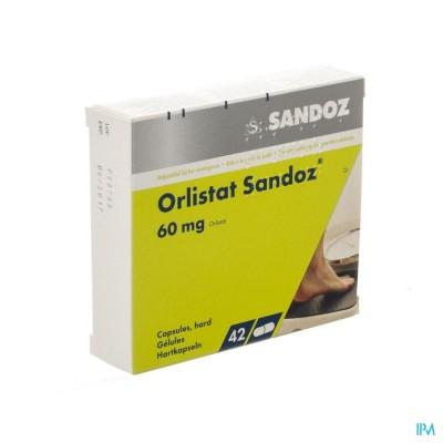 ORLISTAT SANDOZ HARDE CAPS 42 X 60 MG