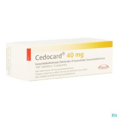 CEDOCARD 40 COMP SEC 100 X 40 MG