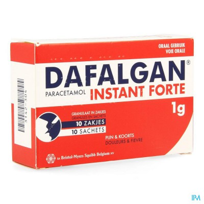 DAFALGAN INSTANT FORTE GRAN ZAKJES 10X1000MG