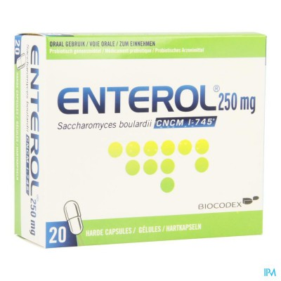 Enterol 250mg Caps Harde Dur 20 X 250mg