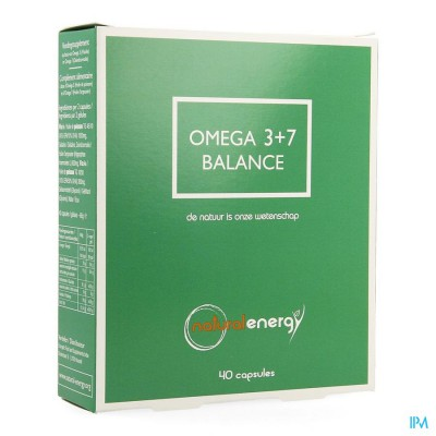 OMEGA 3+7 BALANCE NATURAL ENERGY CAPS 40