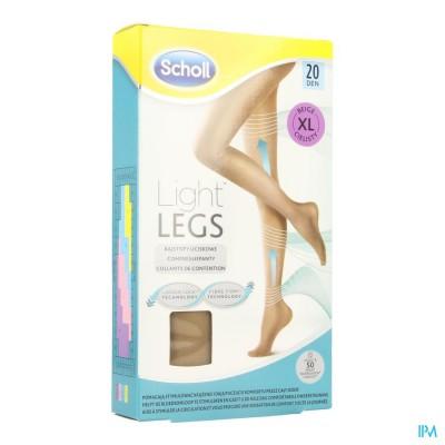 SCHOLL LIGHT LEGS 20D EXTRA LARGE BEIGE