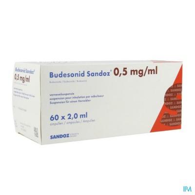 BUDESONID SANDOZ 0,5 MG/ML VERNEVELSUSP AMP 60