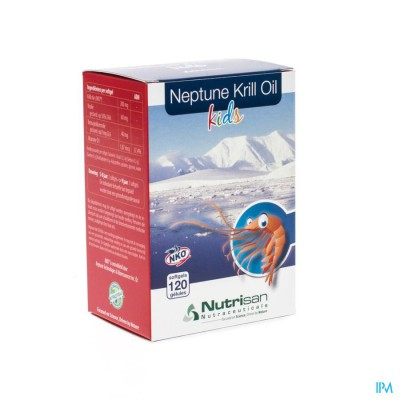NEPTUNE KRILL OIL KIDS SOFTGELS 120 NUTRISAN