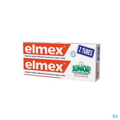 ELMEX JUNIOR TANDP TUBE 2 X 75ML