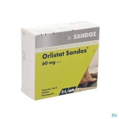 ORLISTAT SANDOZ HARDE CAPS 84 X 60 MG