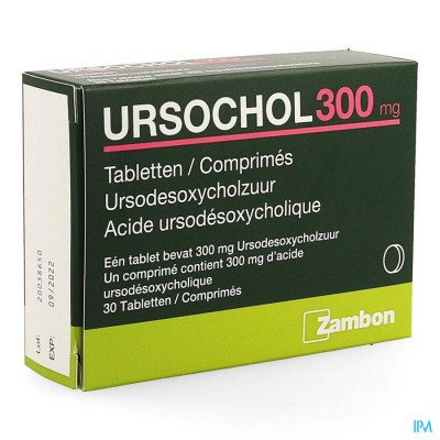URSOCHOL 300 COMP 30 X 300 MG