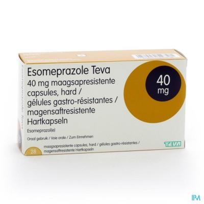 ESOMEPRAZOLE TEVA CAPS HARDE MAAGSAPRES BL 28X40MG