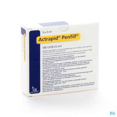 ACTRAPID PENFILL 100 IU/ML 5 X 3,0 ML