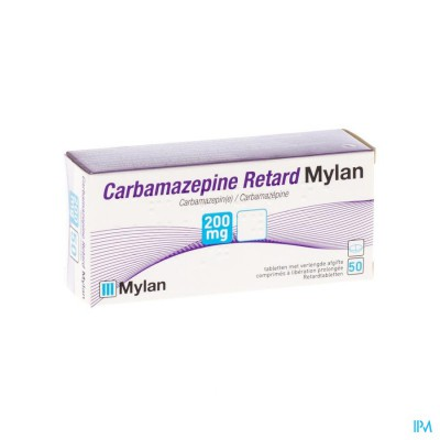 CARBAMAZEPINE MYLAN 200MG TABL RETARD 50X200MG