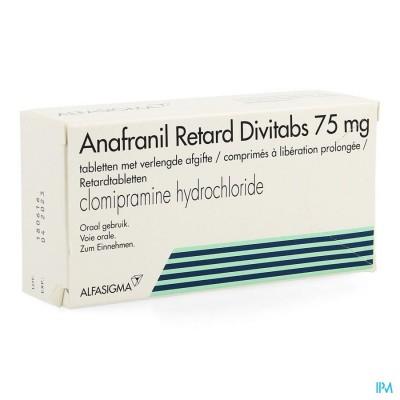 ANAFRANIL RETARD DIVITABS 42X75MG