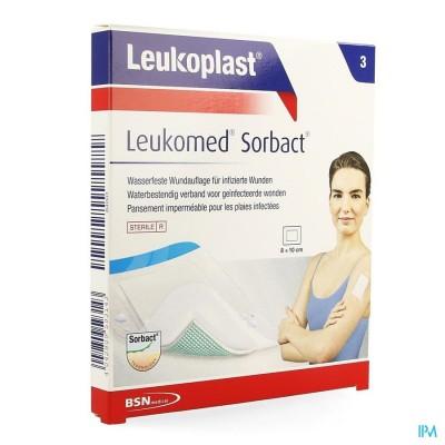 LEUKOMED SORBACT 8CMX10CM 3 LEUKOPLAST