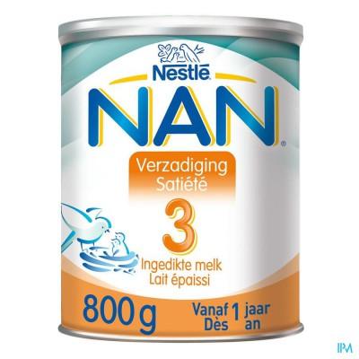 NAN VERZADIGING-SATIETE 3 PDR 800G