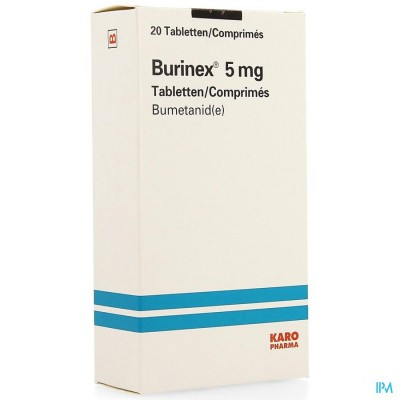 BURINEX COMP 20 X 5 MG