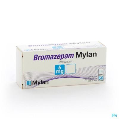 BROMAZEPAM MYLAN 6 MG COMP 50 X 6MG