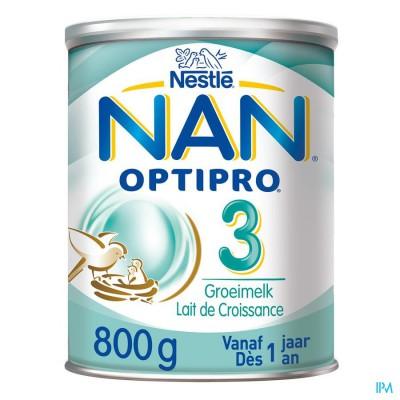 NAN OPTIPRO 3 +1JAAR GROEIMELK PDR 800G