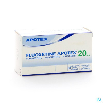 FLUOXETINE APOTEX CAPS 84 X 20 MG