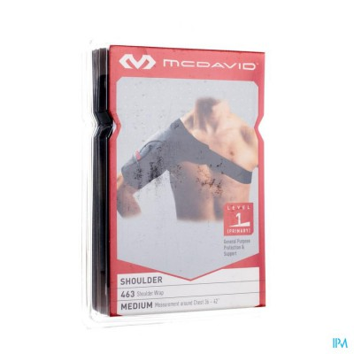 MCDAVID LIGHTWEIGHT SHOULDER BRACE BLACK M 463