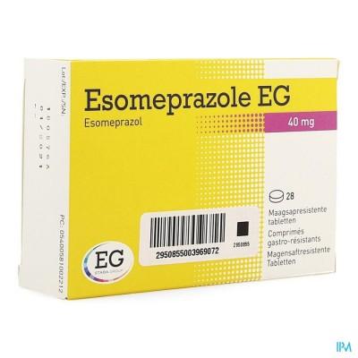 ESOMEPRAZOLE EG 40MG MAAGSAPR TABS 28X40MG