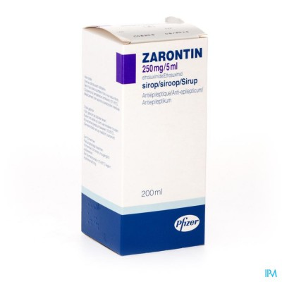 ZARONTIN 250MG/5ML SIROOP 200ML