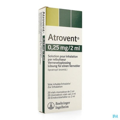 ATROVENT MONODOSE 0,25MG/2ML VIALS 20