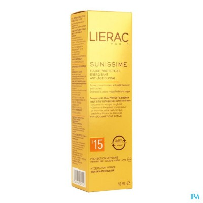 LIERAC SUNISSIME FLUIDE IP15 PROTECT ENERG.AA 40ML