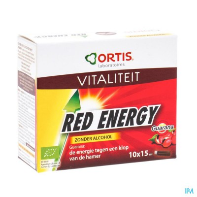 ORTIS RED ENERGY BIO Z/ALC 10X15ML