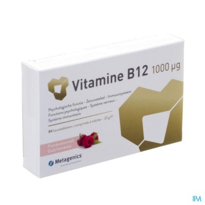 VITAMIN B12 1000MCG KAUWTABL 84 METAGENICS