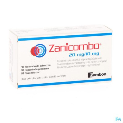 ZANICOMBO 20 MG/10 MG FILMOMH TABL 98