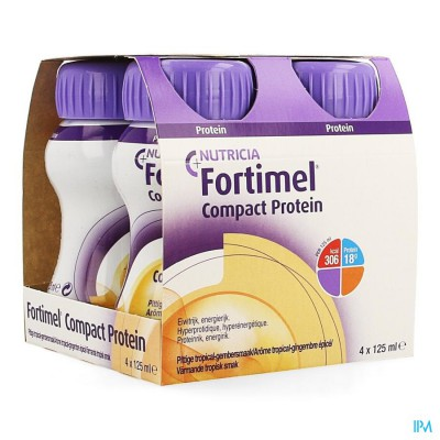 FORTIMEL COMPACT PROTEIN TROPIC.GEMB.PITTIG4X125ML