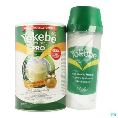 YOKEBE PRO BY XLS NATUURLIJKE HONING 400G + SHAKER