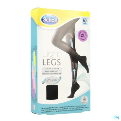 SCHOLL LIGHT LEGS 60D EXTRA LARGE BLACK