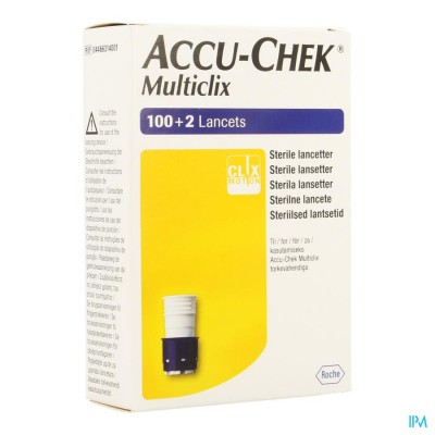 ACCU CHEK MULTICLIX LANCET 17X6 4466314001