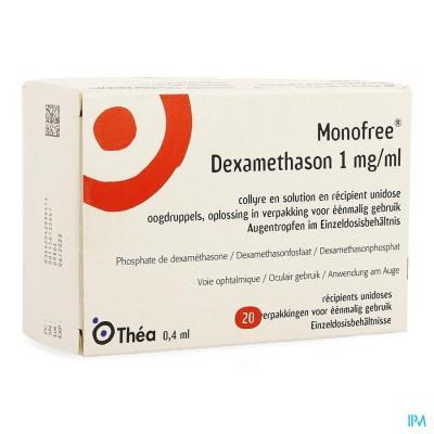 MONOFREE DEXAMETHASON 1 MG/ML 20 UD X 0,1 %