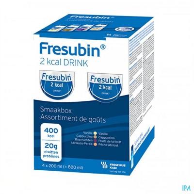 FRESUBIN 2KCAL DRINK SMAAKPAKKET EASYBOTTLE4X200ML