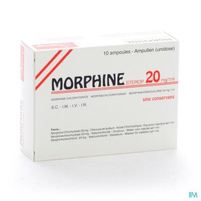 MORPHINE HCL 20MG/1ML 10 X 1 UD