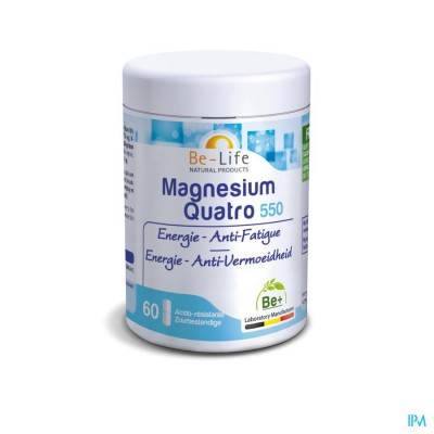 MAGNESIUM QUATRO 550 BE LIFE POT CAPS 60
