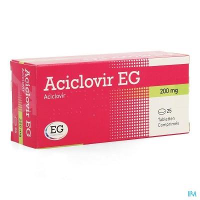ACICLOVIR EG 200 COMP 25 X 200 MG