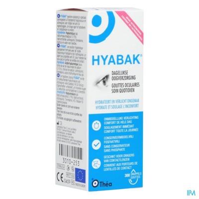 Hyabak 0,15% Oogdruppels Hyaluron Nf 10ml
