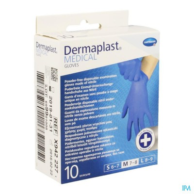 DERMAPLAST MEDICAL GLOVES NON STERIL 10 M