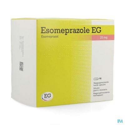 ESOMEPRAZOLE EG 20MG HARDE CAPS MAAGSAPRES 98X20MG