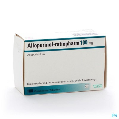ALLOPURINOL RATIOPH COMP 100X100MG