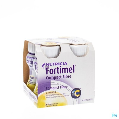 FORTIMEL COMPACT FIBRE VANILLE 4X125ML